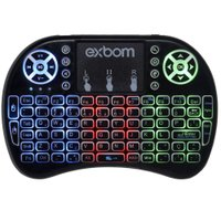 Mini Teclado com Touchpad Wireless 2.4G LED - Exbom
