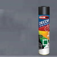 Tinta Spray Decor Grafite - Colorgin