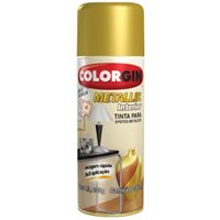 Tinta Spray Metalik  Exterior Ouro - Colorgin
