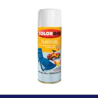 Tinta Spray Plastico Branco Colorgin - Colorgin