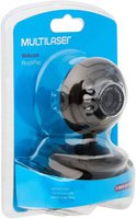 Webcam Plugeplay 16mp Nightvision Mic Usb Preto - Multilaser