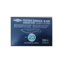 LÂMINA DE BISTURI FEATHER AÇO CARBONO N23 C/100 FEATHER